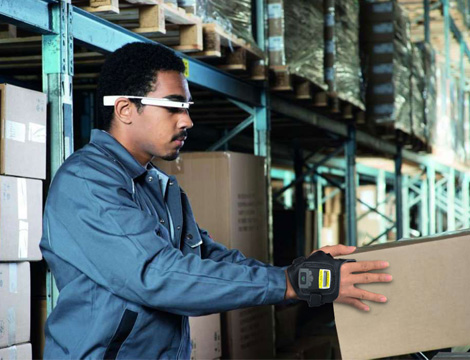 Wireless Glove Barcode Scanner For Factory Logistics Department
